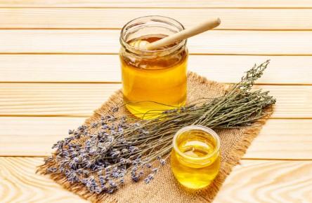 натурални захари, мед, лавандула