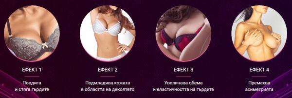 ефекти, крем за гърди