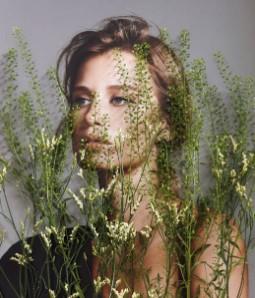 жена, кожа, растение