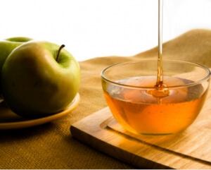 ябълка, мед, маска за лице
