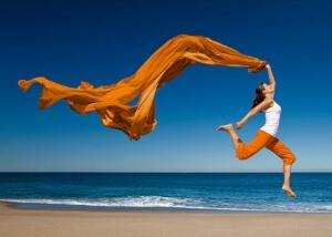 енергия, жена, плаж