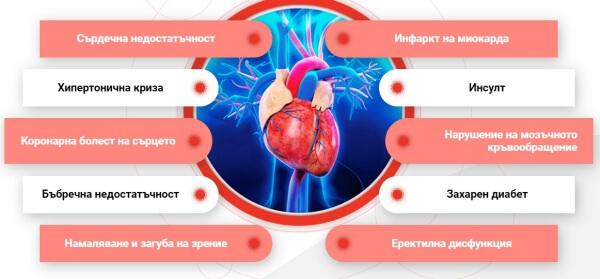 кардиол капсули за хипертония, сърце
