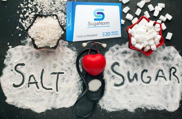 SugaNorm, сърце, сол и захар състав