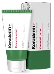 keraderm+ крем гъбички папиломи и брадавици България 30гр